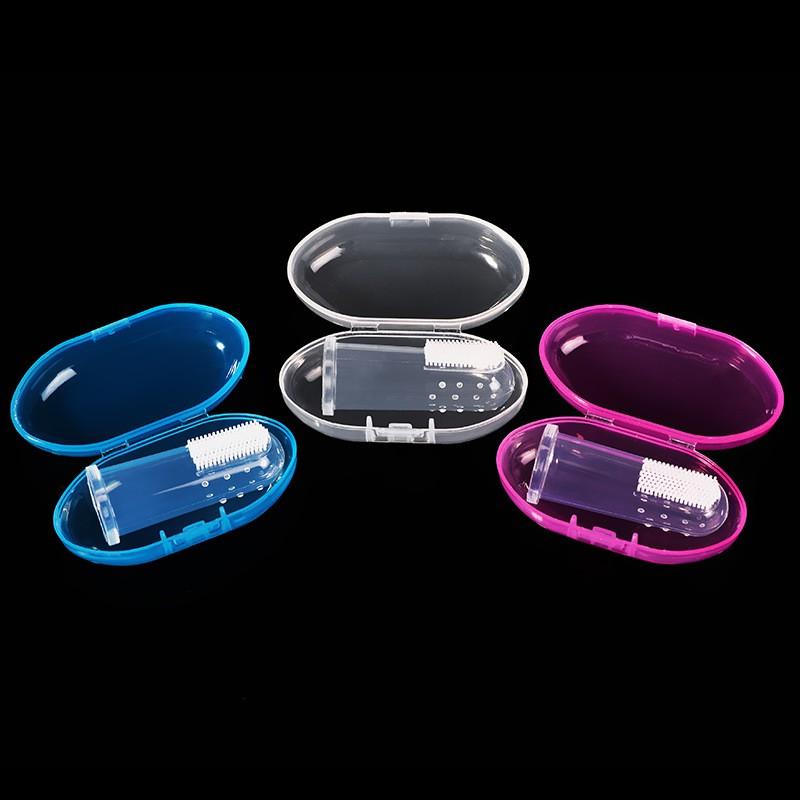 Rơ lưỡi silicon xỏ ngón chống tưa miệng dai mềm cao cấp an toàn cho bé CS01
