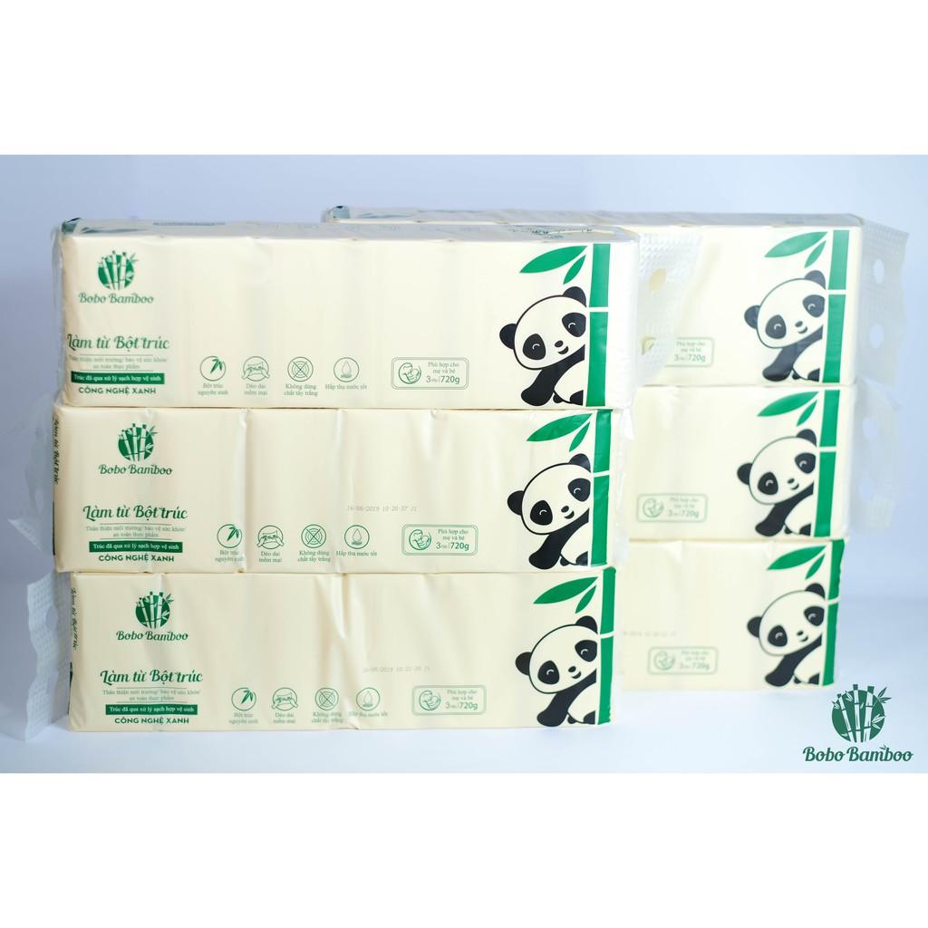 16 Cuộn khăn giấy không lõi làm từ bột trúc siêu dai Bobo Bamboo