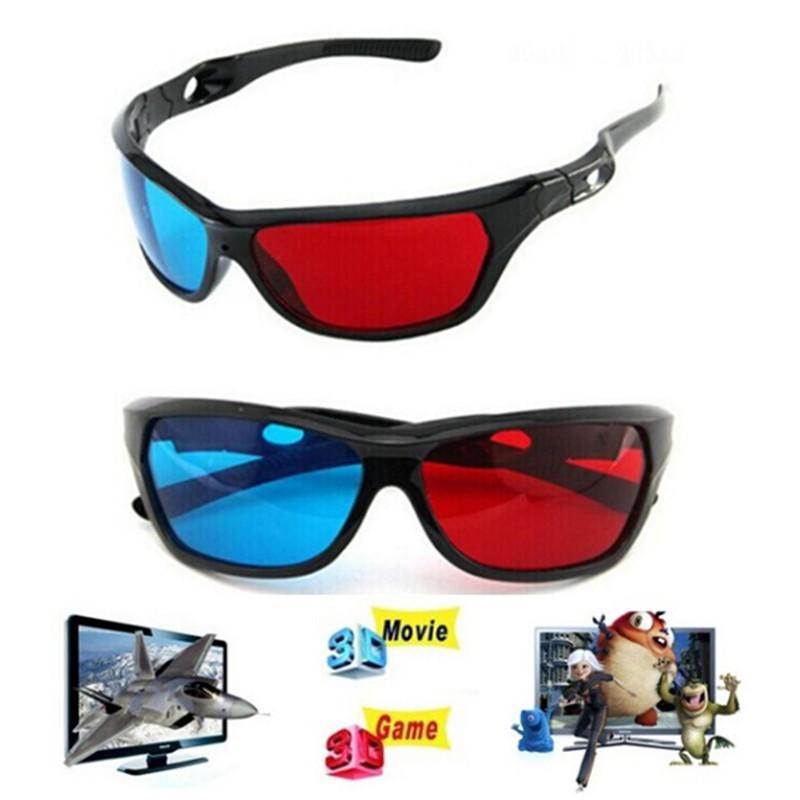 FYVN 3D Glasses Red Blue Black Frame For Dimensional Anaglyph TV Movie DVD Game spur