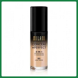 Kem nền Milani Conceal + Perfect 2in1 Foundation + Concealer 30ml