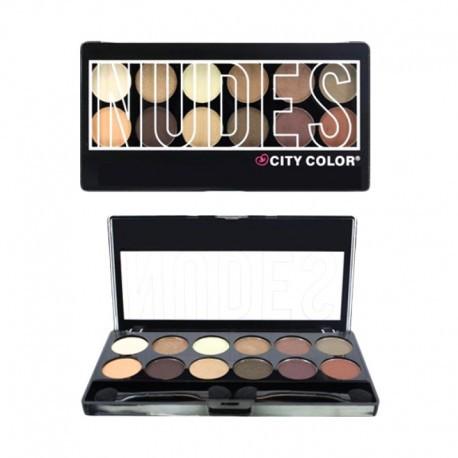 Phấn Mắt 12 Màu City Color The Nudes Eyeshadow Palette