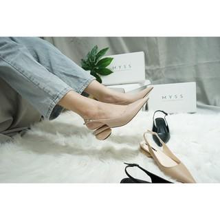 Giày mũi nhọn gót tròn mạ vàng 3cm Myss - CG111 thumbnail