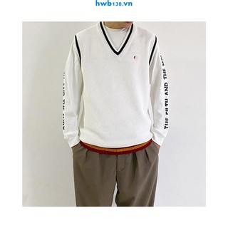 Pure original Japanese line FP British classics Everyday casual high-end sense of knit sweater vest Unisex style