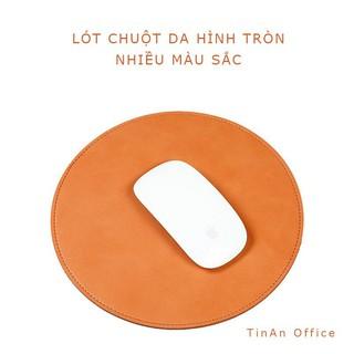 [Microfiber Leather ]Miếng Lót Chuột Da ( Mouse Pad ) Hình Tròn, Không Thấm Nước, Đường Kính 22 cm thumbnail
