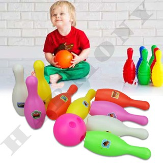 Bowling Indoor Outdoor Skittles Lawn Party Toys Gift Present Children Kids Fun