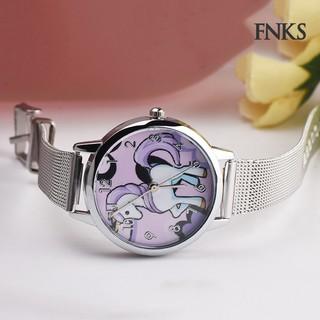Đồng hồ đeo tay da giả họa tiết hoạt hình cho bé trai/gái
