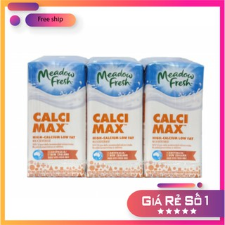 [Mã FMCGGRO giảm 8% đơn 300K] Date T7/2021- Sữa tươi Meadow Fresh Max canxi thùng 24 hộp 200ml