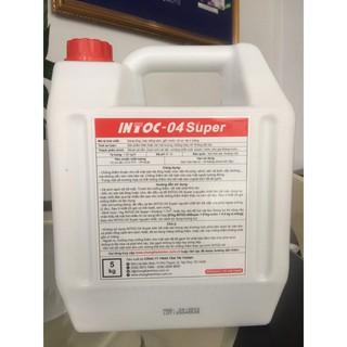 [Thi công rất dễ]💖Chống thấm cao cấp không pha xi măng💥 Intoc 04 super trắng đục 5kg bảo vệ sân thượng-tường-sàn