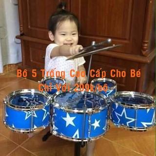 [LOẠI TỐT-CÓ VIDEO] Bộ Trống Cho Bé Jazz Drum 5 Trống Cao Cấp