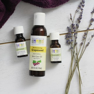 [TE 100ml] Dầu dưỡng da hạt nho Harmonizing Grapeseed Skin Care Oil with Vitamin E Aura Cacia