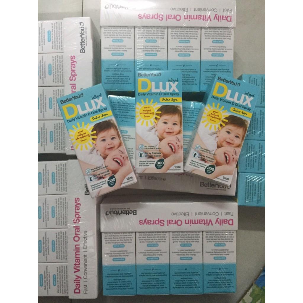 Dlux UK xịt cho bé- vitamin D3 Dlux dạng xịt