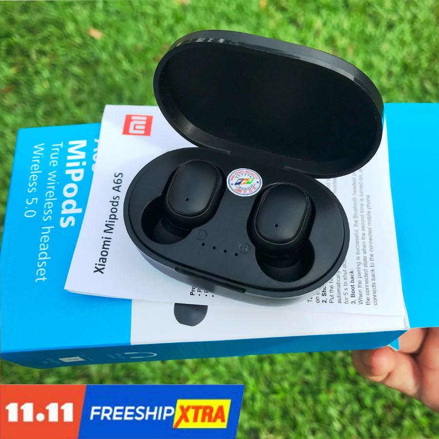 Tai Nghe bluetooth xiaomi Mipods A6S True Wireless Công Nghệ 5.0 Kèm Đốc Sạc ,Cảm Biến Tự Động Kết Nối