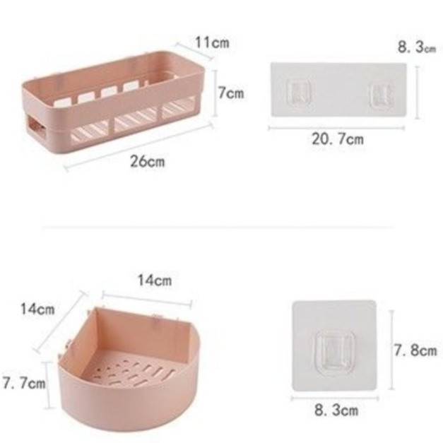 Đa chức năng và đơn giản Đa dụng Kệ đựng đồ nhà tắm, nhà bếp hút chân không (có 2 loại tam giác và chử nhật) Không cần đấm kệ đựng nhà tắm Kệ phòng tắm kệ để đồ phòng tắm kệ dán tường nhà tắm