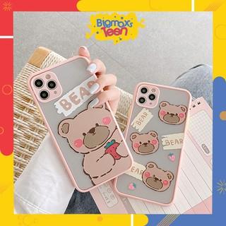 Ốp lưng xiaomi redmi note 8/ note 8 pro/ note 7/ note 9/ note 9s/ redmi 8/8A nhám mẫu Gấu Bear bảo vệ camera