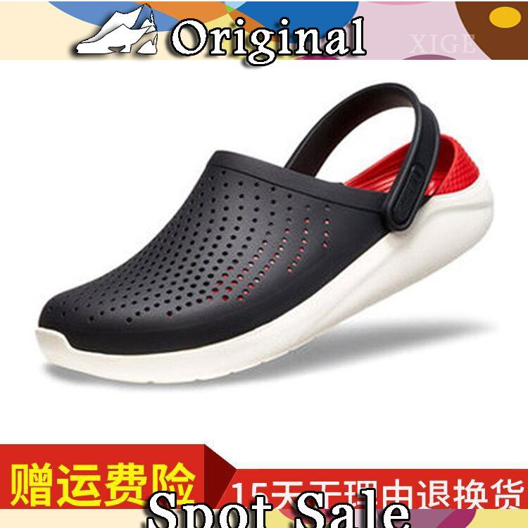 Crocs hole shoes kaluochi LiteRide g Luoge non-slip beach shoes men and women couple sandals and slippers cross
