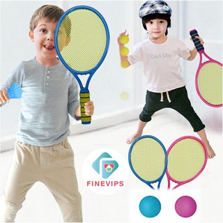 Finevips Children Sports Outdoor Fitness Equipment Tennis Racket Toy