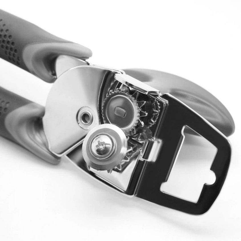✮♪ Professional Ergonomic Manual Can Opener Beer Grip OpenerGray Handle