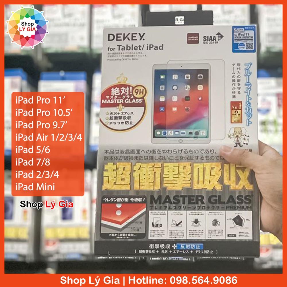 [HÀNG NHẬT BẢN] Kính cường lực iPad cao cấp Dekey | Full tất cả các dòng