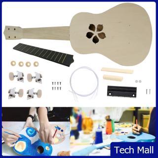 21 inch Ukulele DIY Kit Basswood Hawaii Guitar Handwork Assembly Painting Toy Ukulele Parts Set