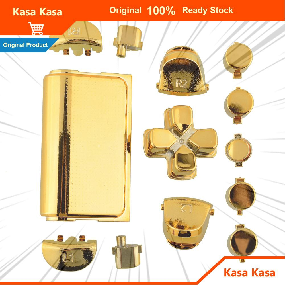Fashion Full Buttons Kits Set Chrome Gold For Sony Playstation 4 PS4 Controller
