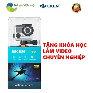 Camera hành trình EKEN H6S tặng 1 pin zin, 1 sạc đôi, bảo hành 12 tháng, hỗ trợ đổi trả 1vs1, camera hành động 4k wifi thumbnail