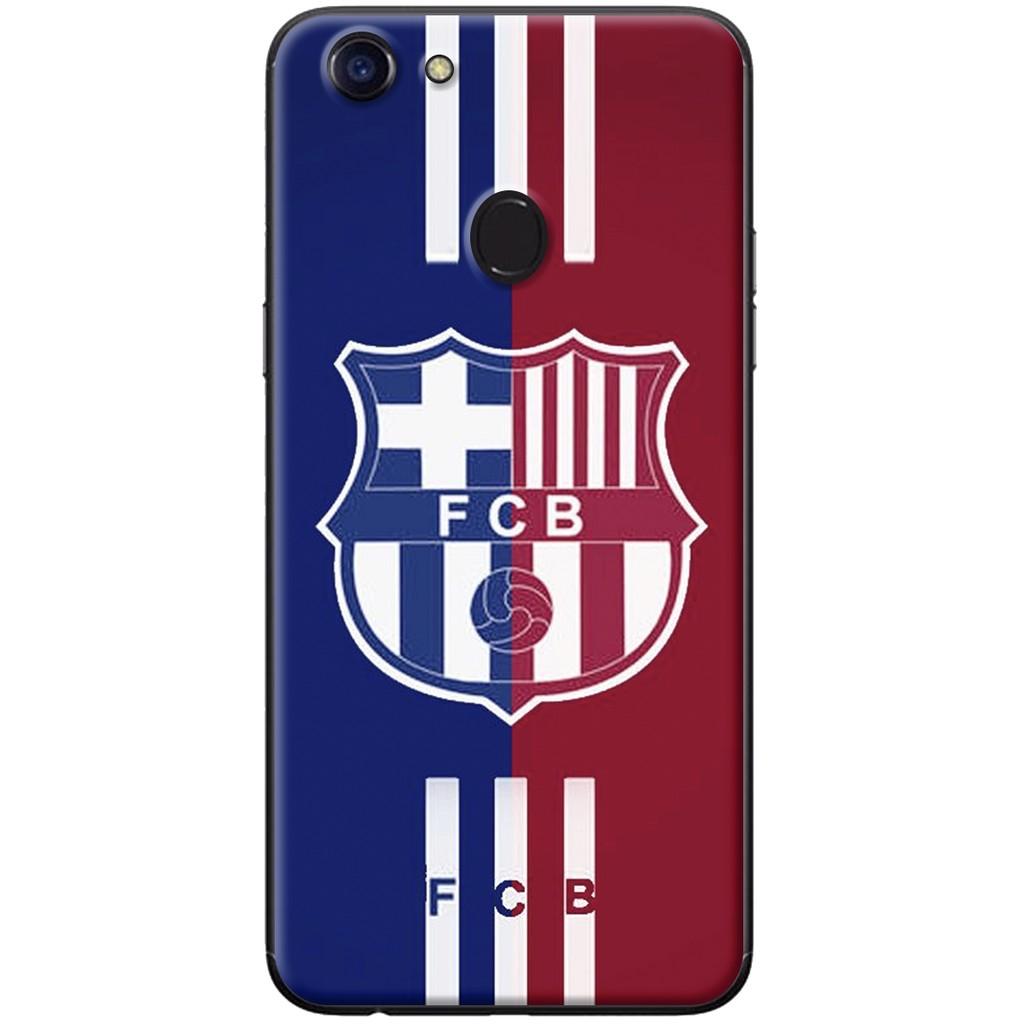 Ốp lưng dẻo OPPO F5 Logo Barcelona sọc đỏ xanh