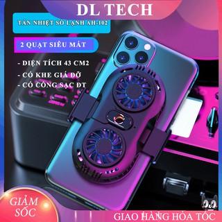 Quạt tản nhiệt điện thoại 2 quạt sò nóng lạnh memo AH102 Gaming giá rẻ DL TECH thumbnail