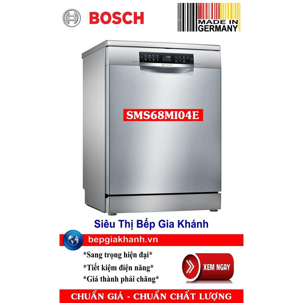 Máy rửa bát 3 giàn rửa Bosch SMS68MI04E sấy Zeolith cao cấp nhập khẩu Đức