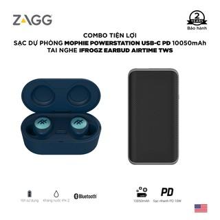 Combo: Tai nghe iFrogz earbud không dây Airtime - Sạc dự phòng Mophie Powerstation USB-C Power Delivery 10050mAh