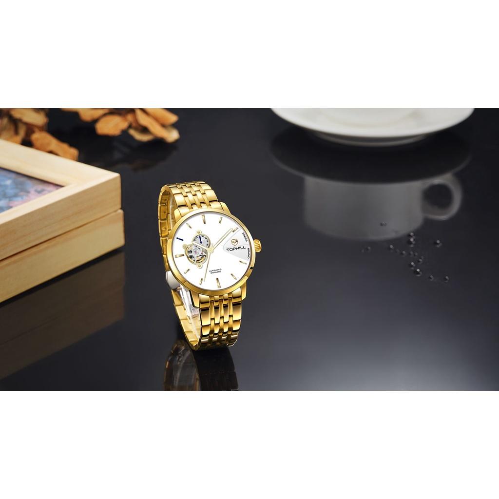 Đồng hồ nam chính hãng TOPHILL TW083G.S2258 - Dây thép - kính Saphire