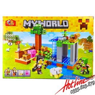Bộ Lego Xếp Hình Mineecraft My World No.35067. Gồm 134 Chi Tiết. Lego Ninjago Lắp Ráp Đồ Chơi Cho Bé.