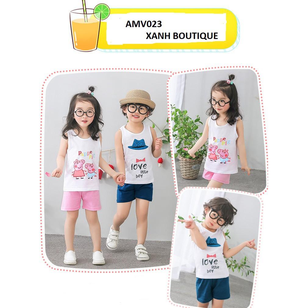 Bộ quần áo trẻ em (cho cả bé trai và bé gái) họa tiết hoạt hình dễ thương AMV023 - 2884246 , 1310480093 , 322_1310480093 , 160000 , Bo-quan-ao-tre-em-cho-ca-be-trai-va-be-gai-hoa-tiet-hoat-hinh-de-thuong-AMV023-322_1310480093 , shopee.vn , Bộ quần áo trẻ em (cho cả bé trai và bé gái) họa tiết hoạt hình dễ thương AMV023