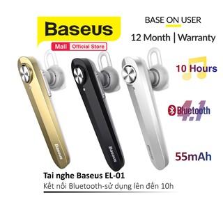 Tai nghe Baseus NGA01 kết nối Bluetooth 4.1 Mic thoại rảnh tay- Sử dụng lên đến 10h