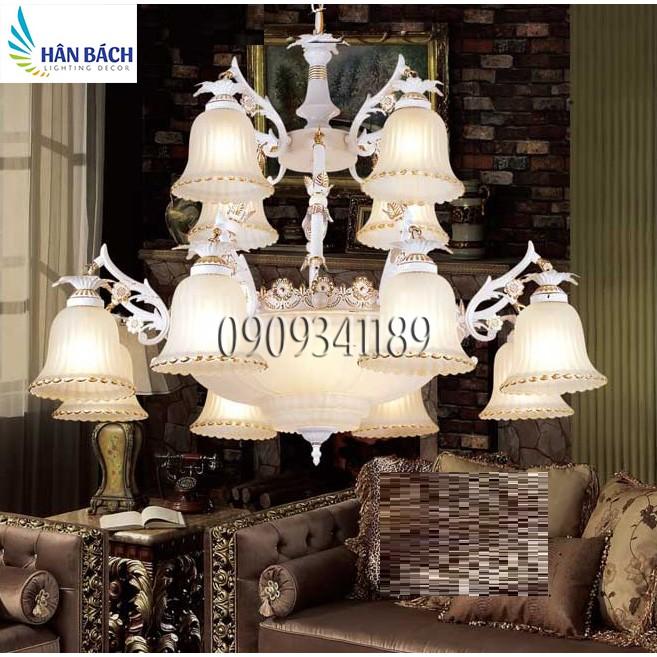 đèn chùm,đèn chùm cổ điển,đèn gắn trần phòng khách,mái vòm