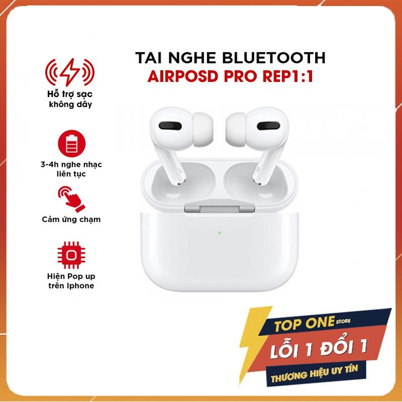 Tai Nghe Kết Nối Bluetooth Airpod Pro 5.0, Chip Jerry A8 - Đổi Tên Định Vị Xuyên Âm Chống Ồn, Sạc Không Dây Bản Pro 2