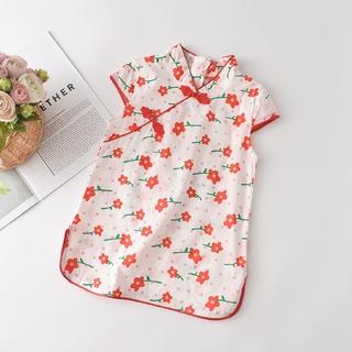 Đầm Hoa Phong Cách Trung Hoa Dành Cho Bé Gái