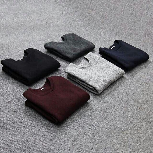 áo len nam thu đông dài tay M173