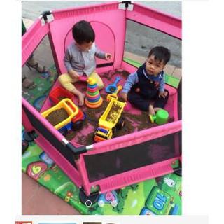 Combo đồ chơi xúc cát quây bóng inox kèm hạt xúc kèm đồ chơi