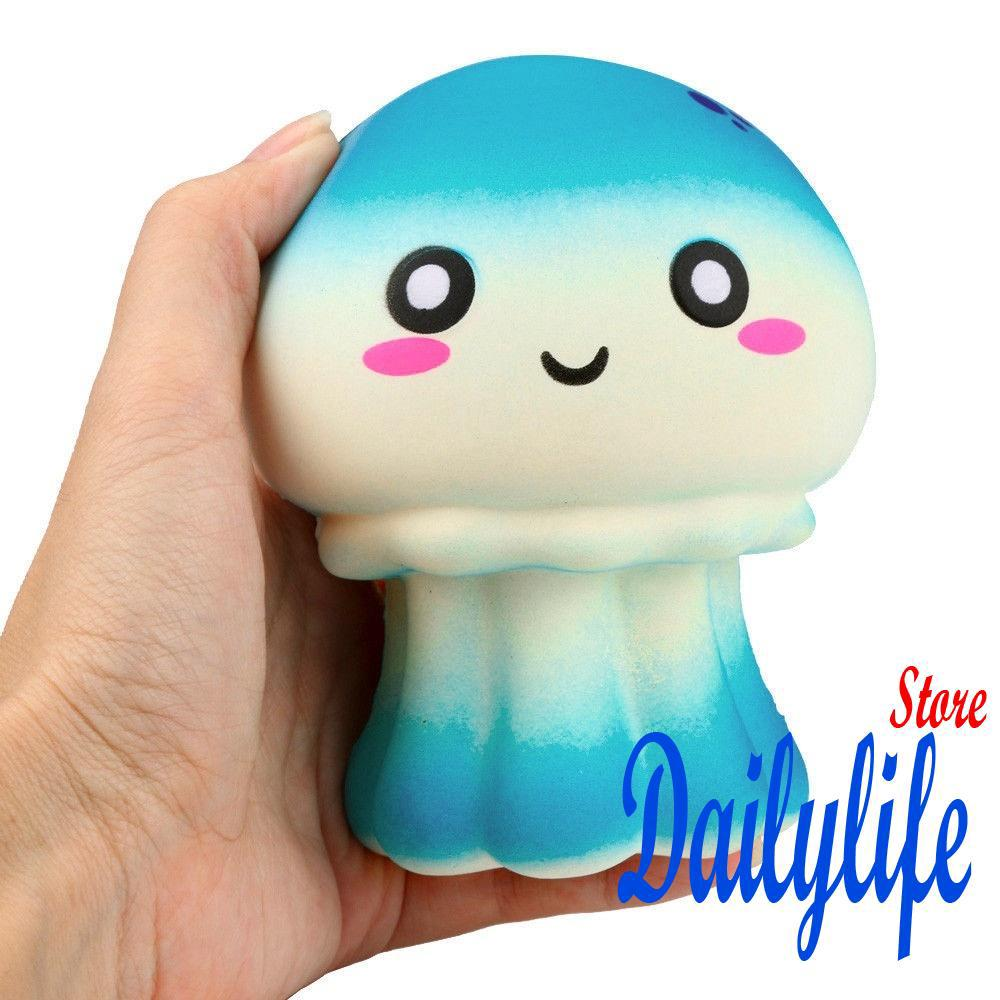 .NN-Squishy Slow Rising Soft Squeeze Stress Reliever Jellyfish Scented Toys DE