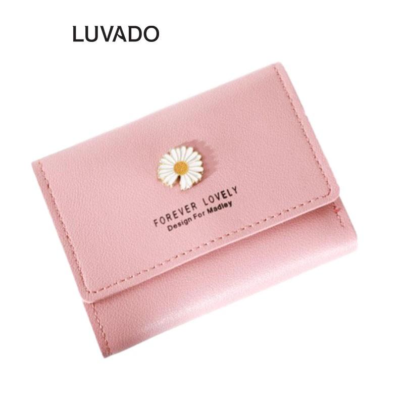 Ví nữ cầm tay mini MADLEY ngắn nhỏ gọn bỏ túi nhiều ngăn thời trang cao cấp LUVADO VD411