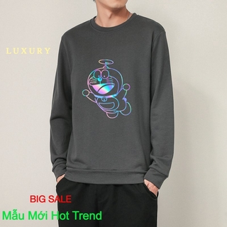 [ Hoàn Tiền 100% Nếu Sai Mẫu Hoặc Chất Kém ] Áo Sweater nỉ phản quang unisex dài tay Doremon Chong Chóng AS18