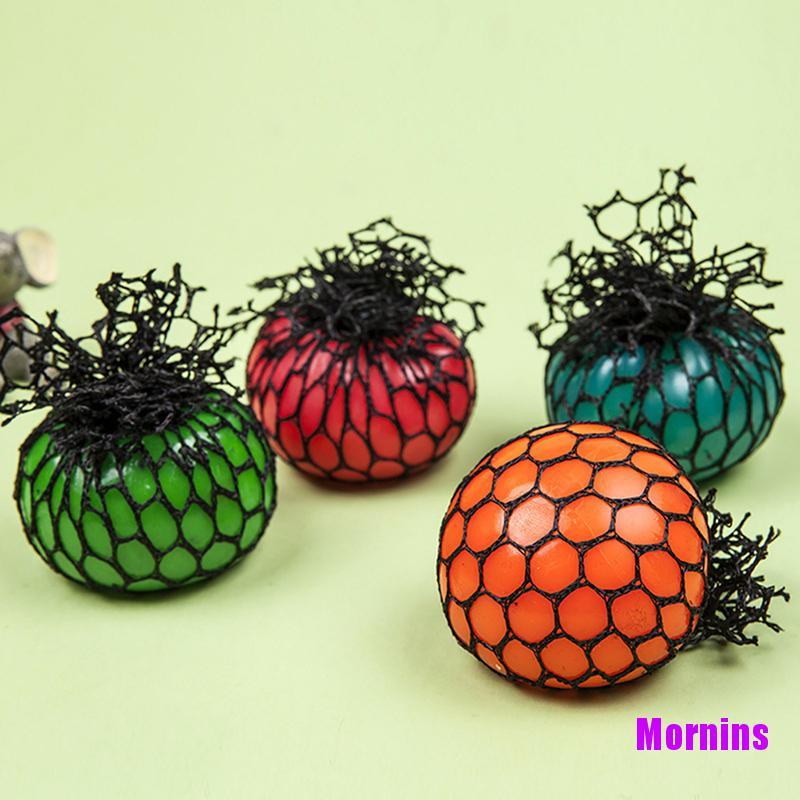 Mornin☪Novelty Anti-Stress Squishy Mesh Venting Ball Grape Squeeze Sensory Fruity Toys