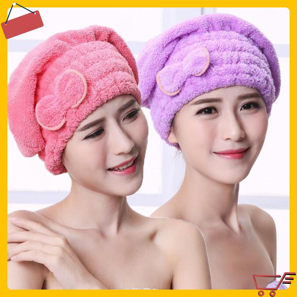 GIÁ SỈ Khăn quấn khô tóc hình san hô, làm từ vải bông cao cấp, có tác dụng thấm hút tốt, giúp tóc mau khô 7074