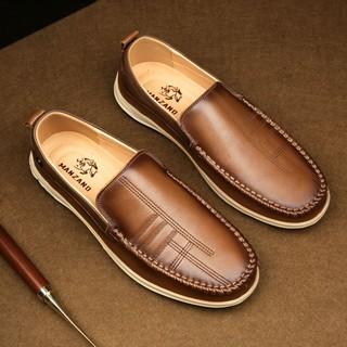 Giày lười da thật mùa hè đẳng cấp Manzano kiểu dáng trẻ trung và mạnh mẽ M88001