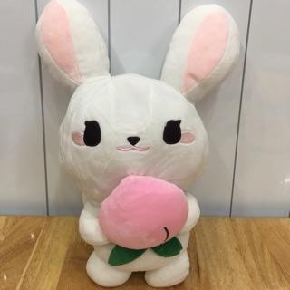 Thỏ ôm quả đào 32cm