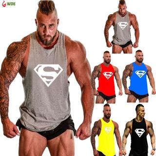 Men's Sports Vest Basic Fitness Bodybuilding Training Printing Vest
