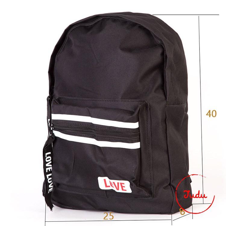 Balo nam thời trang phong cách Hàn Quốc mẫu Love màu đen ba lô du lịch balo học sinh - 3014005 , 895029276 , 322_895029276 , 80000 , Balo-nam-thoi-trang-phong-cach-Han-Quoc-mau-Love-mau-den-ba-lo-du-lich-balo-hoc-sinh-322_895029276 , shopee.vn , Balo nam thời trang phong cách Hàn Quốc mẫu Love màu đen ba lô du lịch balo học sinh