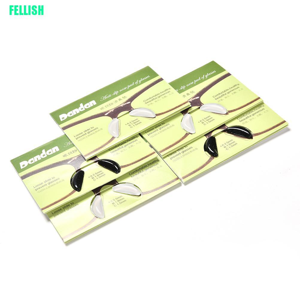 (FEL) 5 Pairs Anti-Slip Silicone Nose Pads For Eyeglass Sunglass Glasses Spectacles