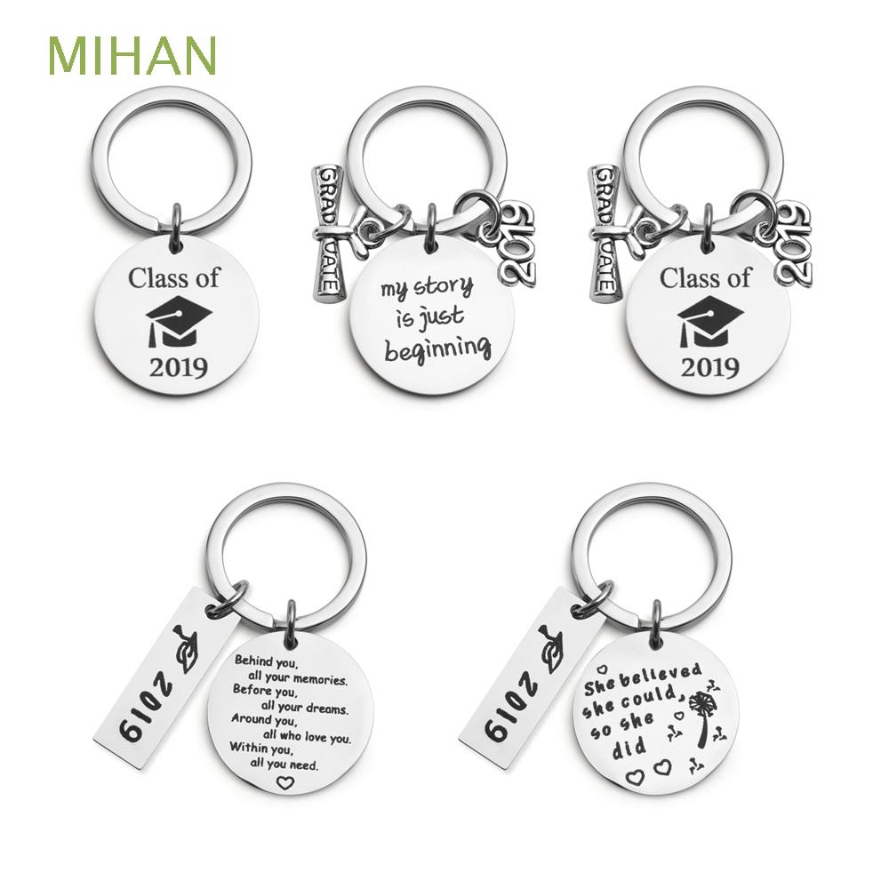 DIY Craft Bachelor Hat Finish School Student Classmate Presents Stainless Steel  Graduation Keychain