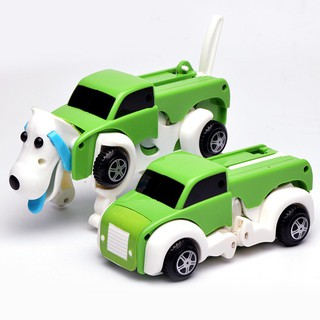 New Transform Wind-Up Truck Dog Car Vehicle Model Kid Educational Toy Child Gift